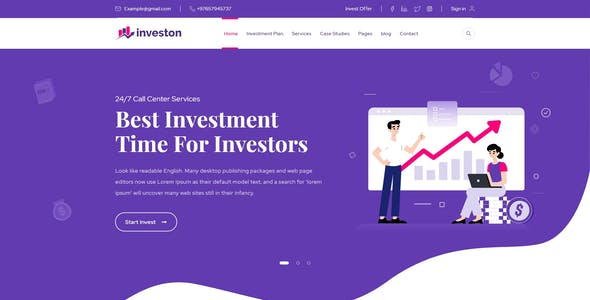 Investon - Investment Hyip XD Template