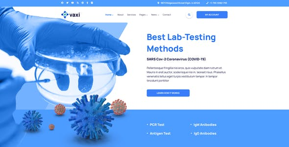 Vaxi – COVID Vaccination Template for Sketch