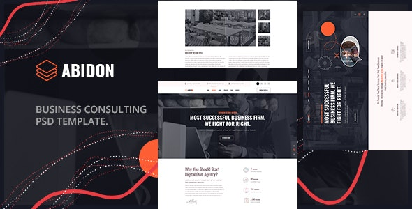 Abidon - Business Consulting PSD Template. - Business Corporate