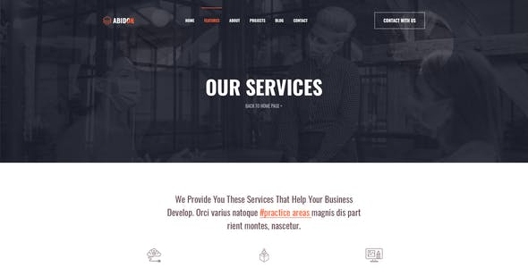 Abidon - Business Consulting PSD Template.