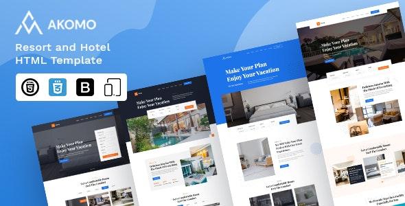 Akomo   Resort and Hotel HTML Template - Travel Retail