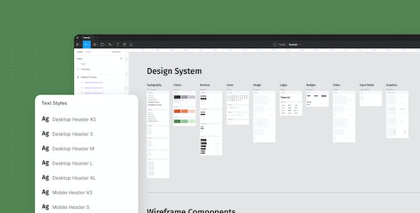 Toomail - Email Newsletter Wireframe