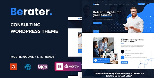 Berater - Consulting WordPress Theme - Business Corporate