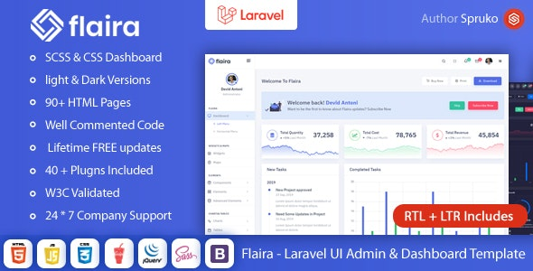 Flaira - Laravel UI Dashboard template - Admin Templates Site Templates