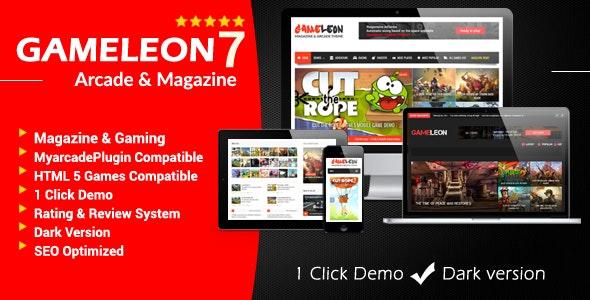 Gameleon - WordPress Arcade & Magazine Theme - Entertainment WordPress