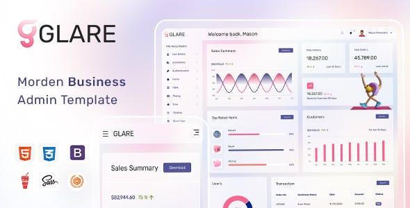 Glare - Soft Bootstrap Admin Dashboard