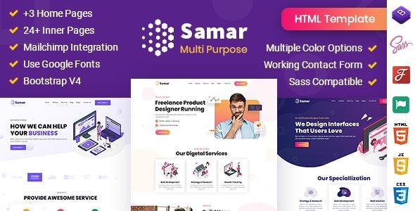 Samar | Creative Agency Bootstrap Template - Creative Site Templates