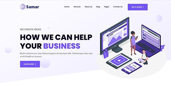 Samar | Creative Agency Bootstrap Template