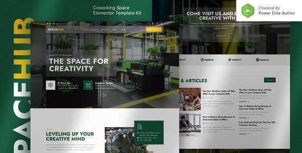 Spacehub – Coworking & Creative Space Elementor Template Kit