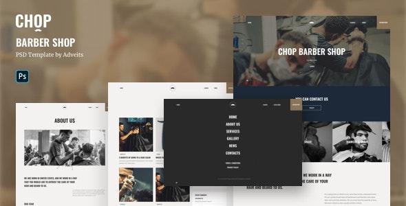 Chop - Barber Shop PSD Template - Health & Beauty Retail