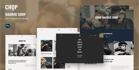 Chop - Barber Shop PSD Template