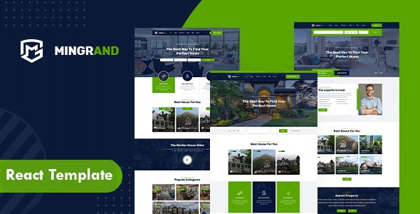 Mingrand - Real Estate React Template - Business Corporate