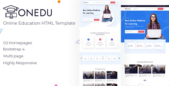 Onedu - Online Education HTML Template - Corporate Site Templates