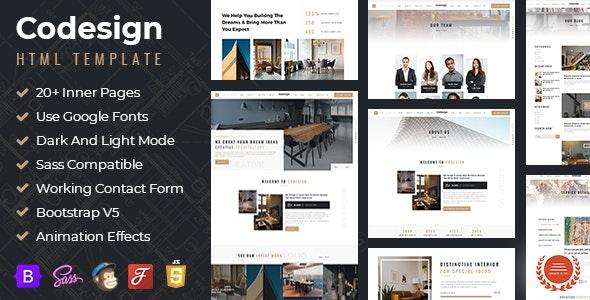 CoDesign - Architect & Interior Design HTML Template - Site Templates