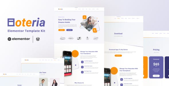 Hoteria - Hotel Service Elementor Template Kit