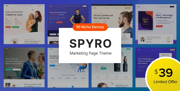Spyro - Marketing Landing Page WordPress Theme - Marketing Corporate
