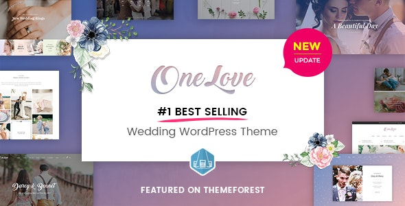 OneLove - The Elegant & Clean Multipurpose Wedding WordPress Theme - Wedding WordPress
