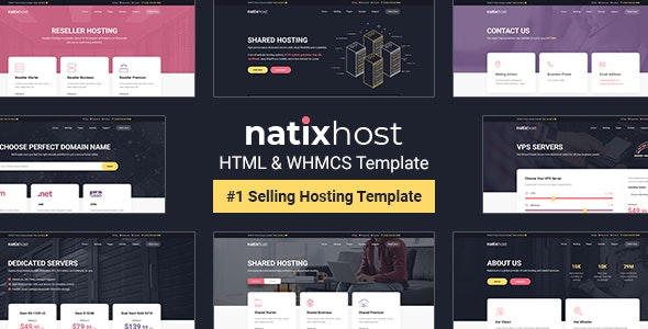 NatixHost - WHMCS & Hosting HTML Template - Hosting Technology