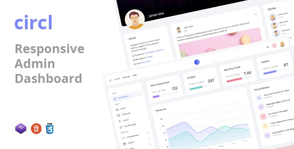 Circl - Responsive Admin Dashboard Template