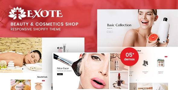 Exote v1.0 – Beauty & Cosmetics Shop Responsive Shopify Theme