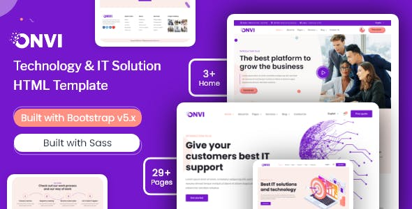 Onvi - IT Solutions & Services HTML Template