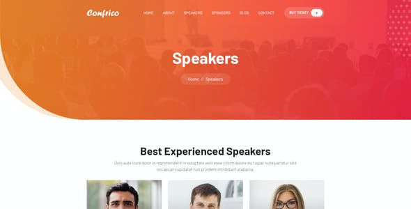 Confrico - Event & Conference PSD Template