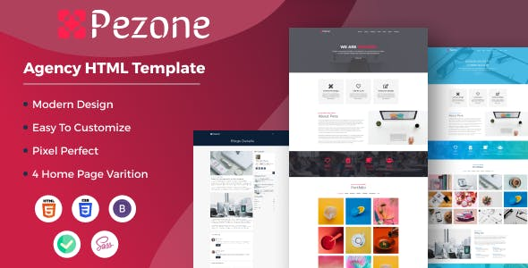 Pezone- Creative Agency HTML Template