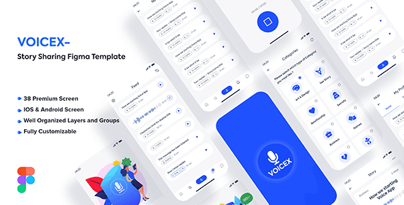 Voicex – Story Sharing Figma Template