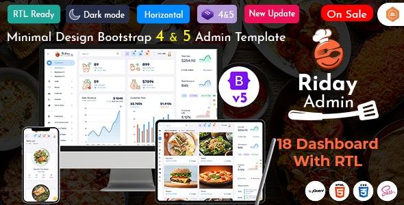Riday - Restaurant Bootstrap 5 Admin Template Webapp - Admin Templates Site Templates
