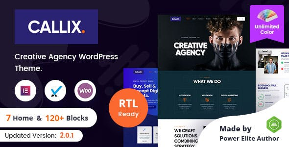 Callix - Creative Agency WordPress Theme + RTL
