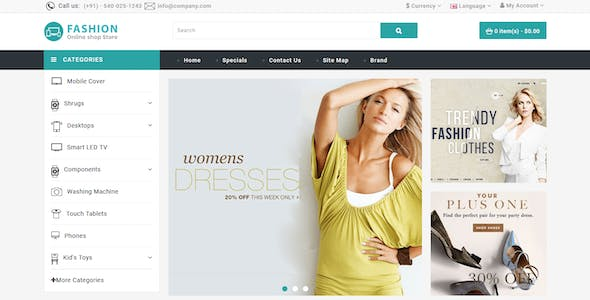 Grocery and Shopping OpenCart 3.X Multistore Theme (Shopping, Mall)