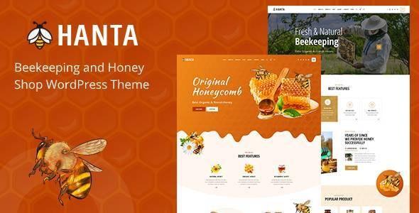 Hanta - Beekeeping and Honey Shop WordPress Theme - Food Retail