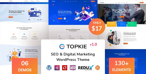 Topkie - SEO Marketing WordPress Theme