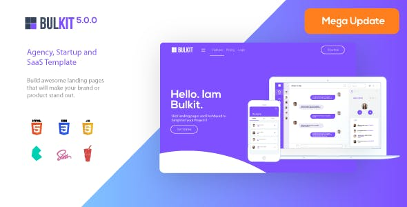 Bulkit - Saas Landing Pages