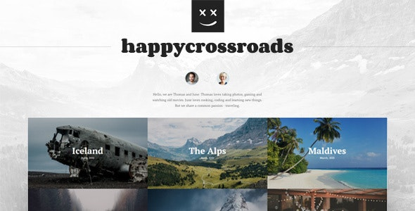 HappyCrossroads - A home for your travel stories - Jekyll Static Site Generators
