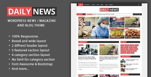 Daily News - WordPress Magazine And Blog Theme - News / Editorial Blog / Magazine