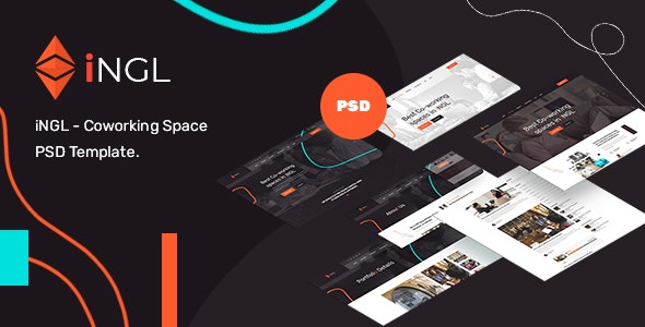 Ingl - Coworking Space PSD Template - Business Corporate