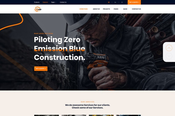 Bulter - Clean Construction Template Kit - Real Estate & Construction Elementor