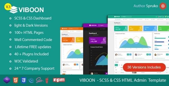 Viboon - Bootstrap Admin & Dashboard HTML Template - Admin Templates Site Templates