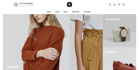 Reviens -  Fashion WooCommerce WordPress Theme
