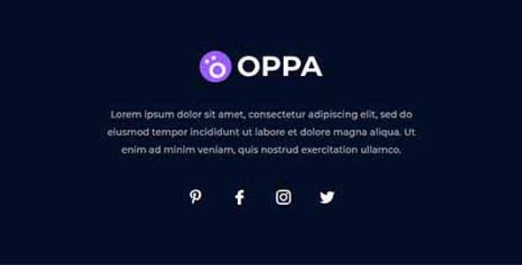 Oppa - Personal Portfolio Elementor Template Kit