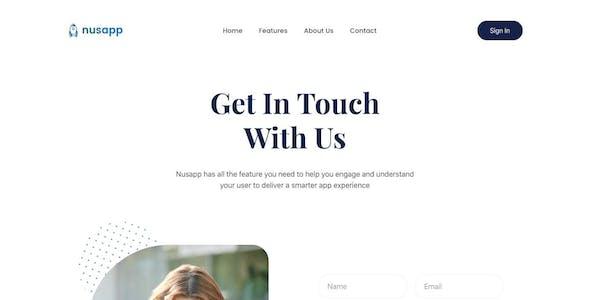 Nusapp - SaaS Startup & Business Elementor Template Kit