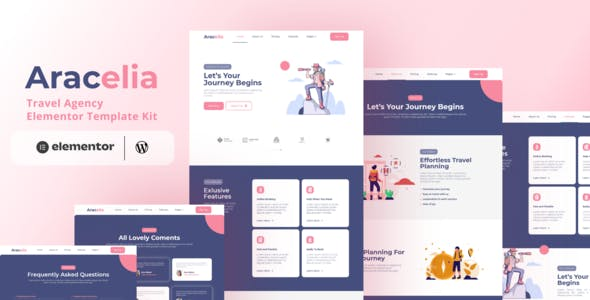 Aracelia - Travel Agency Elementor Template Kit