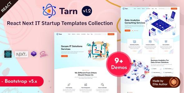 Tarn - React & Next.js IT Startup Template