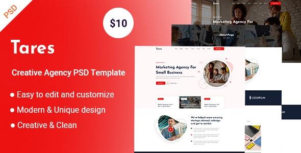 Tares-Creative Agency PSD Template - Corporate Figma