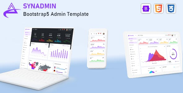 Synadmin -  Bootstrap 5 Admin Template