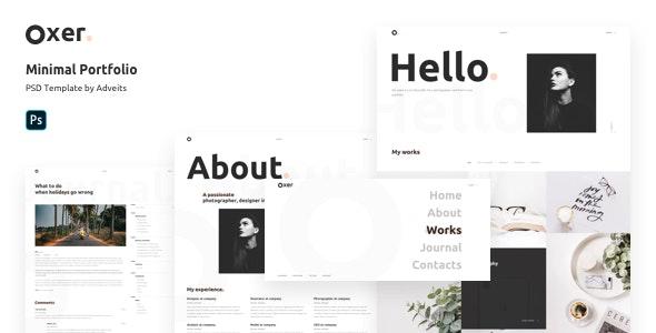 Oxer - Minimal Portfolio PSD Template - Portfolio Creative