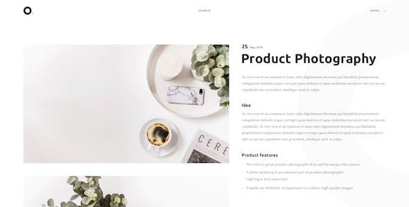 Oxer - Minimal Portfolio PSD Template