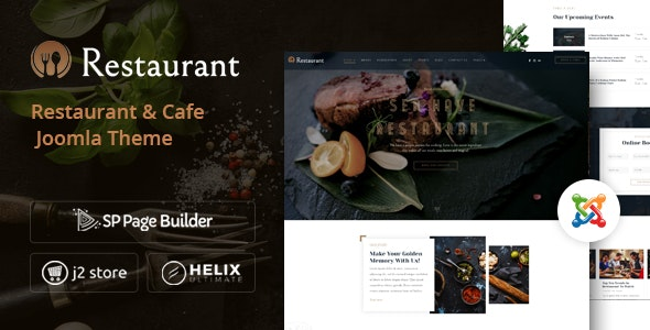 Restaurant - Elegant Hotel Reservation Joomla Template - Restaurants & Cafes Entertainment