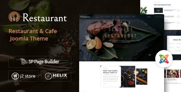Restaurant - Elegant Hotel Reservation Joomla Template